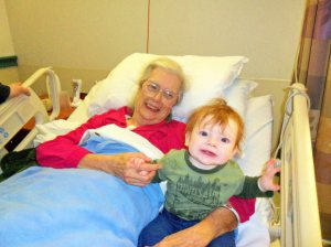 Great Grandma O meets her youngest great-grandson