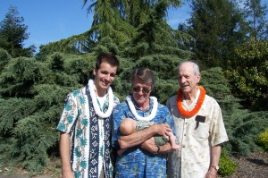 Four Generations-  my husband, his father holding Baby X, and his grandfather- now home with Jesus