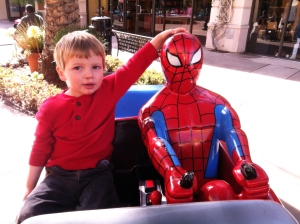 Spiderman car ride