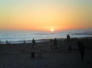 The sun setting into the ocean- I love living in California!  It's so beautiful!