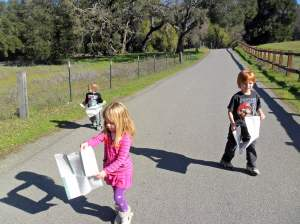 All three were very excited to look at maps of the park