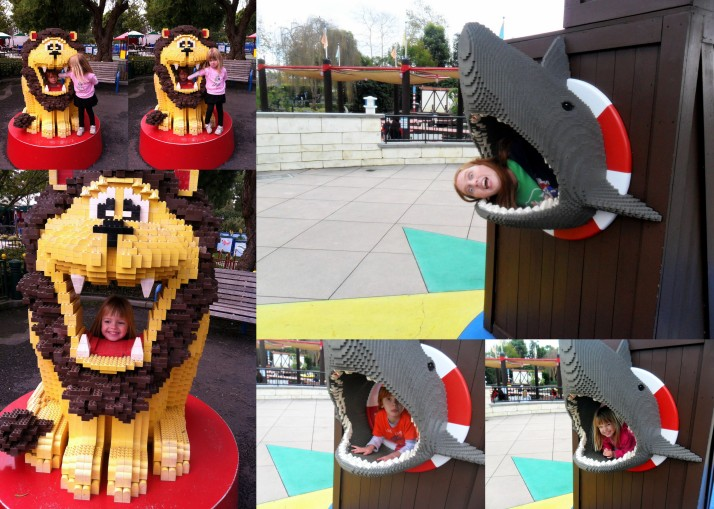 Lego animals eating the family