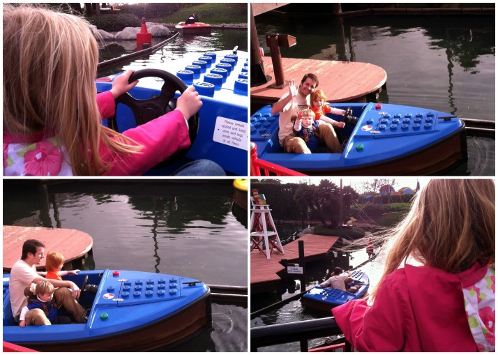 Kids driving boats