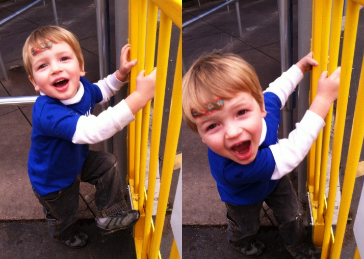 Z-urchin had fun at Legoland- whether he was riding rides or waiting in line