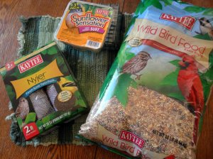 Three types of bird food