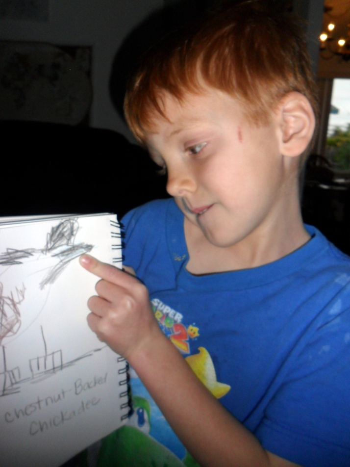 His Chickadee journal entry