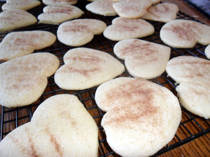 Heart shaped snickerdoodles