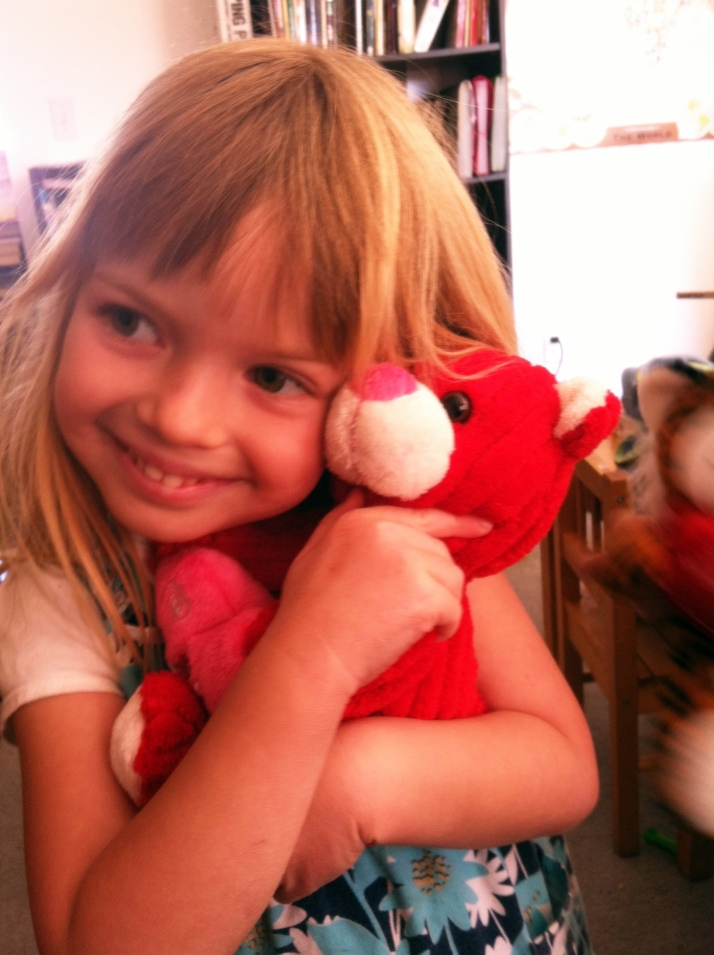 "She named her bear ""Holiday Bear Pink"" and decided to call her ""Holly"""