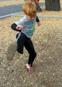 Demonstrating a Tae Bo Kick
