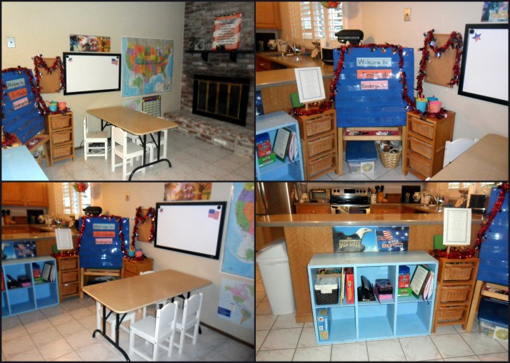 Our schoolroom is all ready to go for our first day!