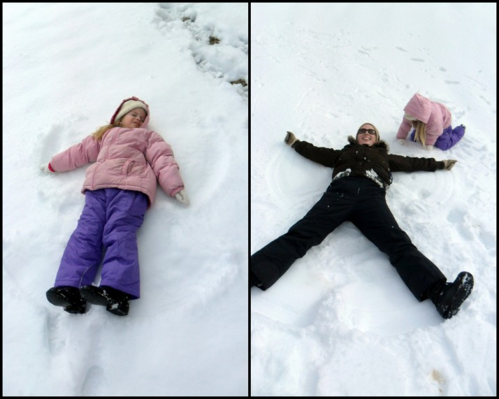 Snow Angels! (I made this after I rolled down the hill and was too dizzy to get up)