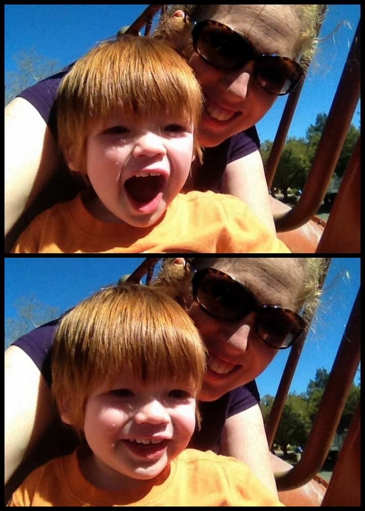 Fun on the slide!