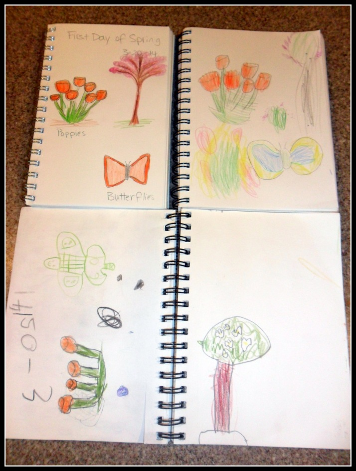 Journal entries from the first day of spring