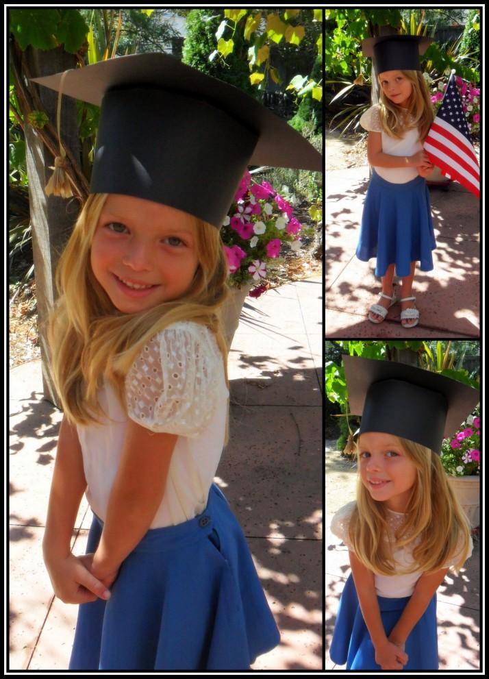 Kindergarten Graduation in her Heirloom Outfit