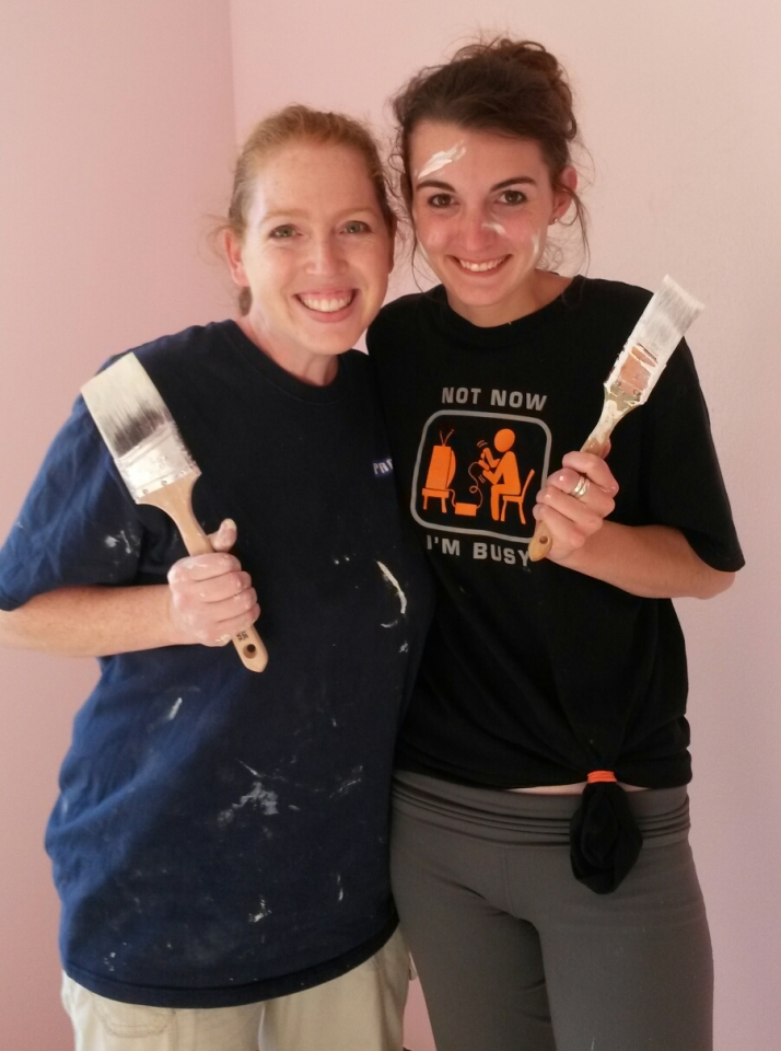 My cousin & I painted the new place and it was SO MUCH FUN!