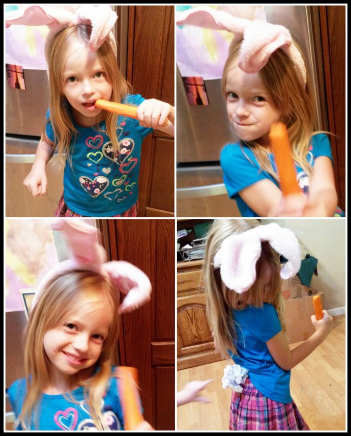 Time to be a Bunny Rabbit- complete with carrot!