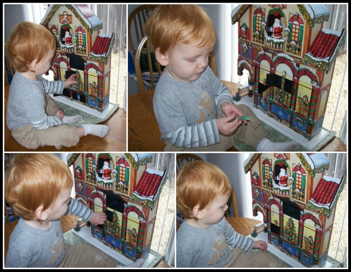 X-man's first exploration of the Christmas advent house