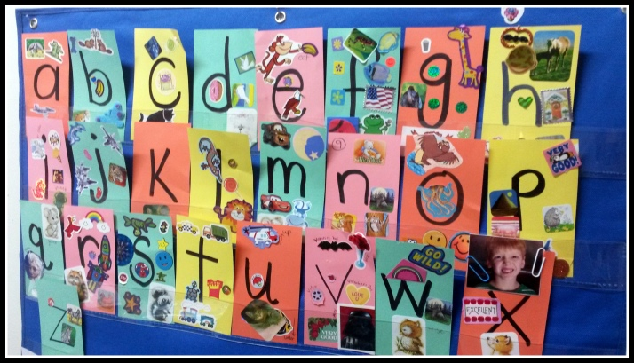 Alphabet Card Wall